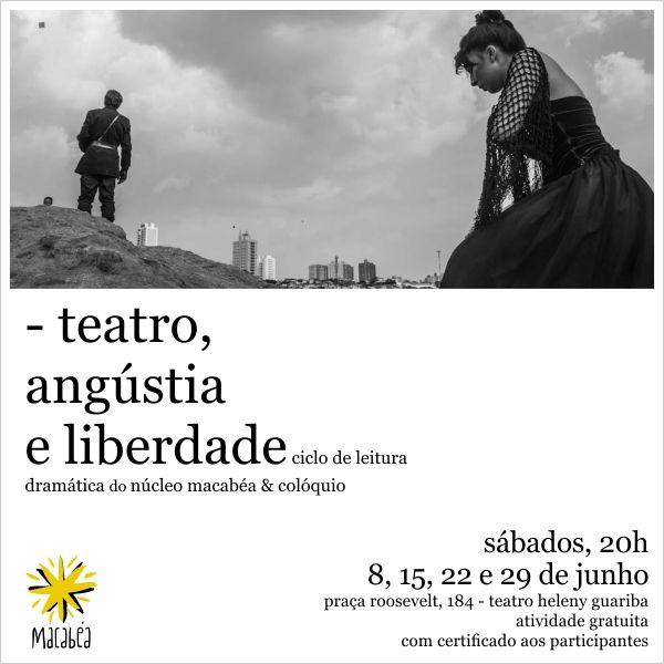 Teatro, angústia e liberdade: ciclo de leituras dramáticas do Núcleo Macabéa - com dramaturgias de Rudinei Borges