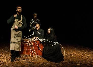 """Ensaio da peça """"Agruras, ensaio sobre o desamparo"""" em São Paulo"""